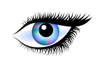 Drawing of eye on white