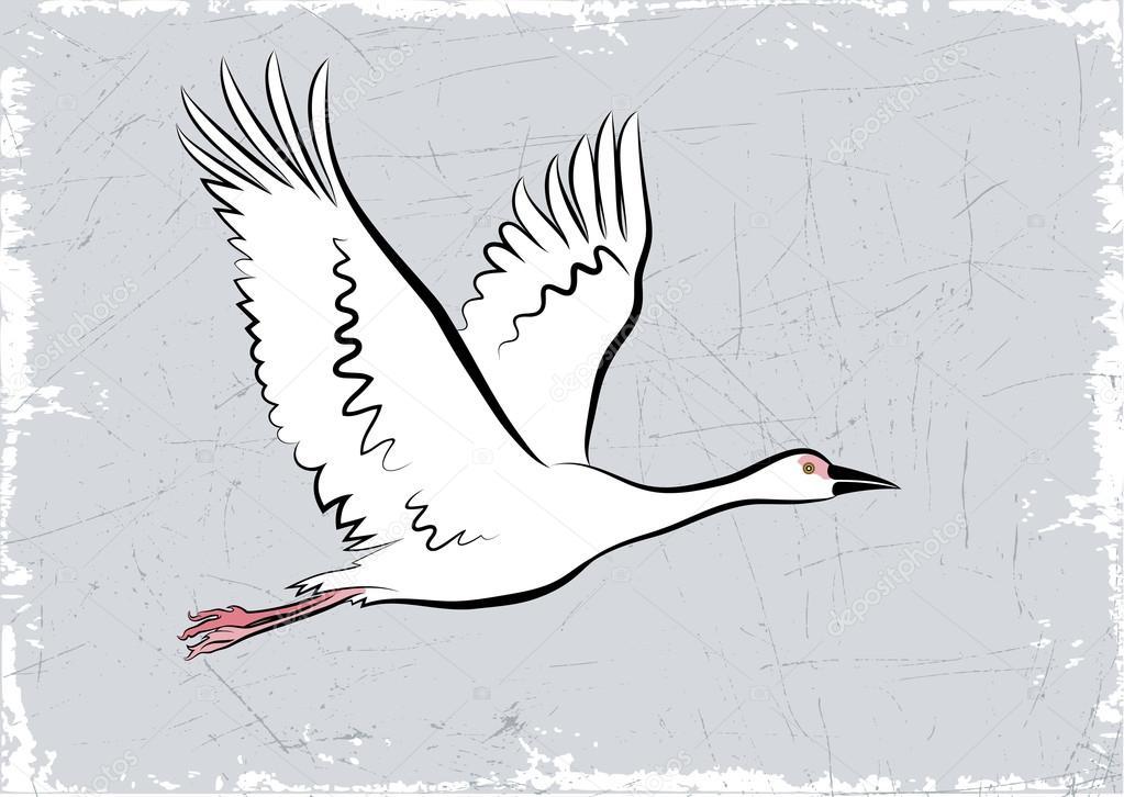 Dessin d'une oie en vol — Image vectorielle alexcosmos ...