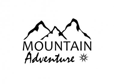 abstract mountain adventure background