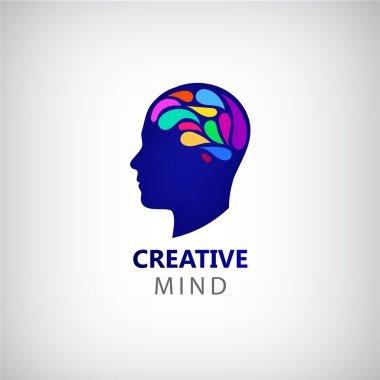 Colorful brain - creative mind