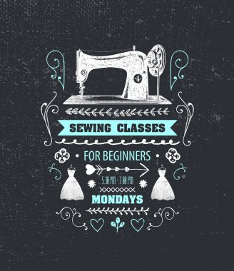 sewing classes poster
