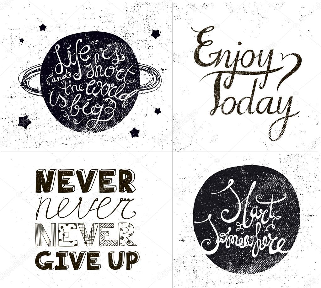 Set Of Inspirational Quotes Stockvector C Marylia 111822270