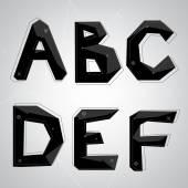 Fotografie Black crystal font