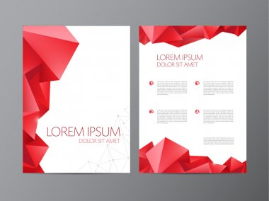 Red modern flyer