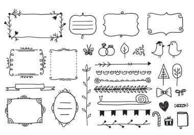Hand drawn doodle frames