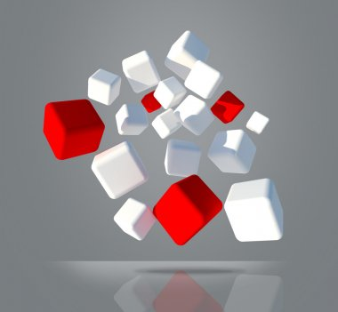 White and red cubes