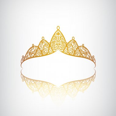 Golden elegant crown