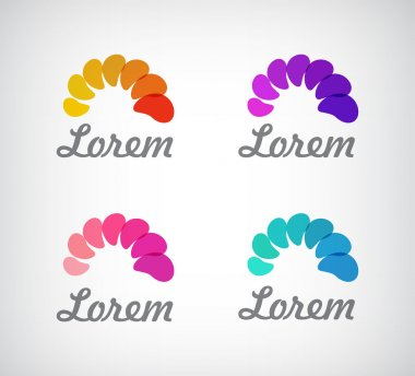 Abstract colorful logos