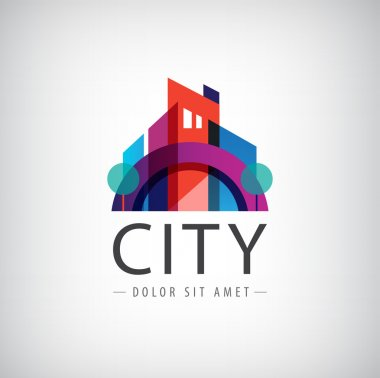 Colorful city icon