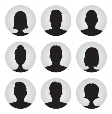 Men and women profile icons