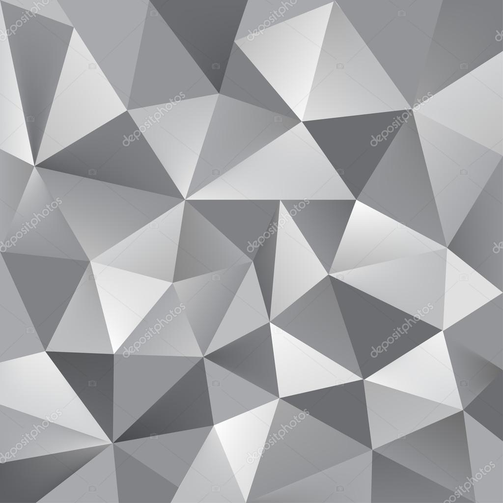 Grey Geometric Background U2014 Stock Vector