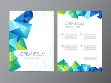 Brochure abstract design