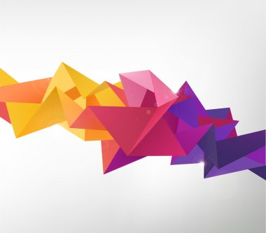 Geometric shapes background