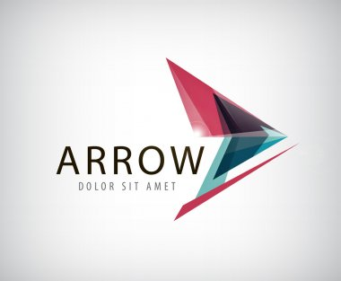Abstract arrow logo