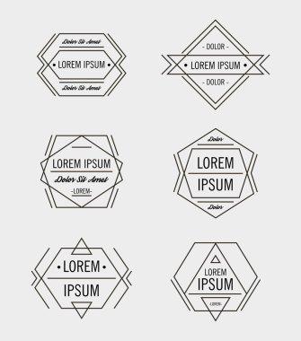 Hipster geometric logo design templates