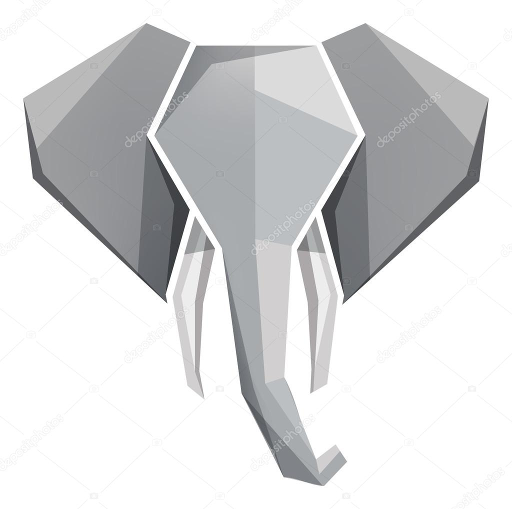 origami elephant head icon � stock vector 169 marylia 66300065