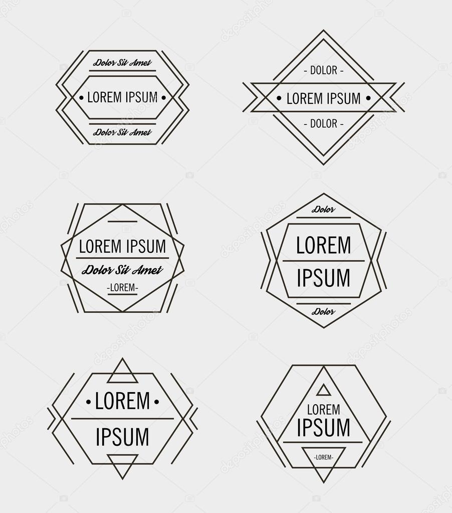 Hipster geometric logo design templates — Stock Vector © Marylia ...