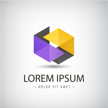 Modern origami logo