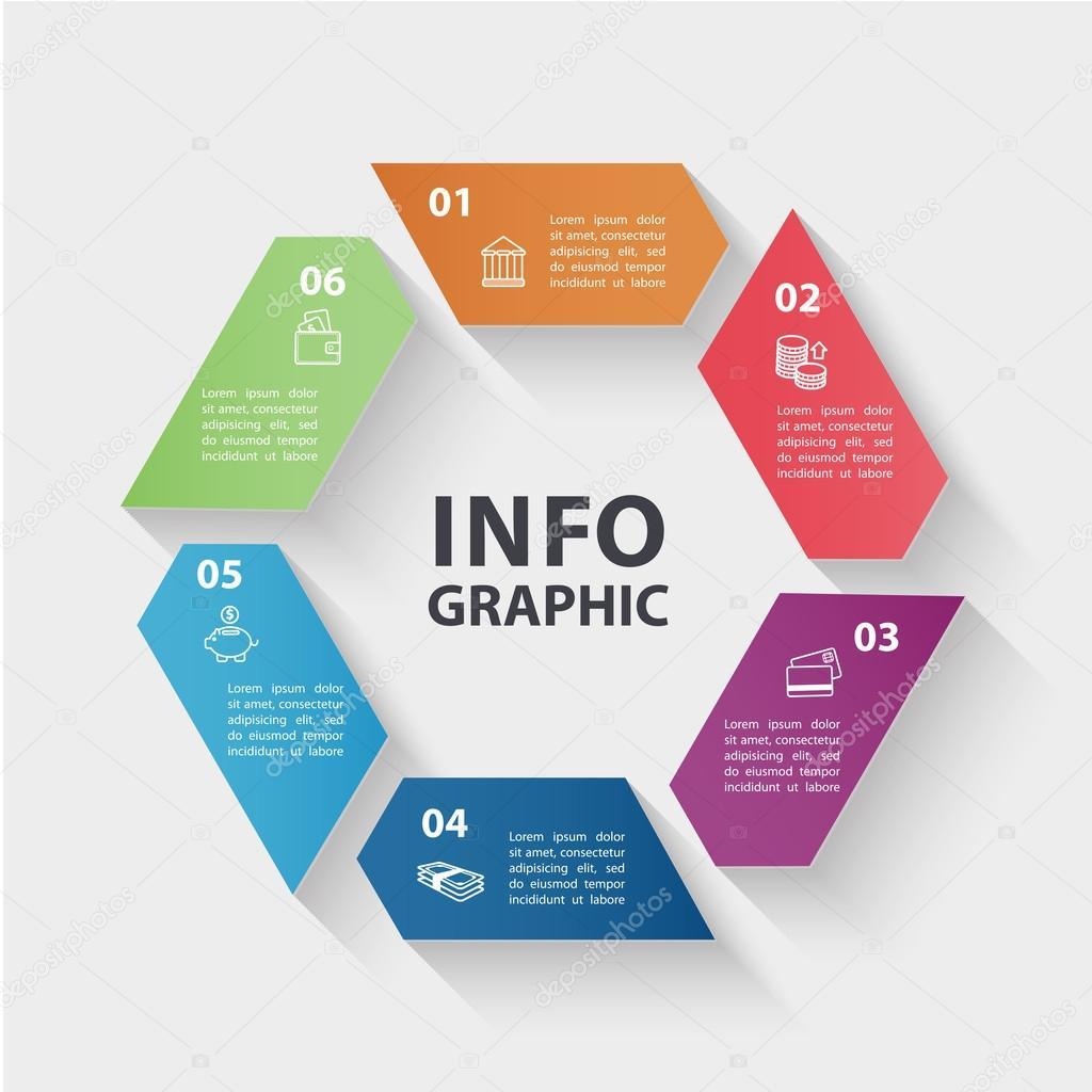 Circle infographics design — Stock Vector © Marylia #69211141