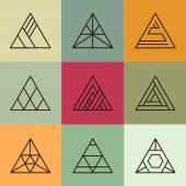 Fotografie geometric shapes, triangles set