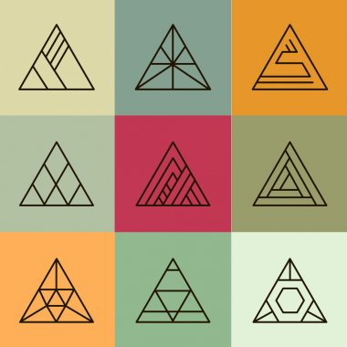 geometric shapes, triangles set