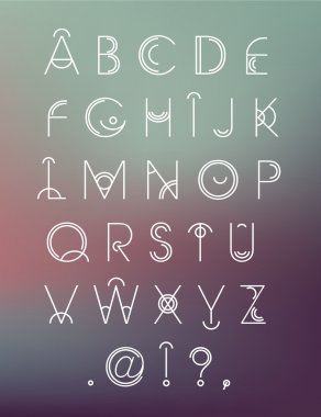 geometric hipster font