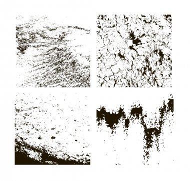 Grunge textures set