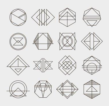 retro line abstract logos
