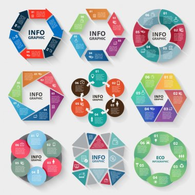 circle abstract infographics