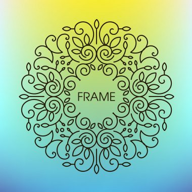 abstract monogram design