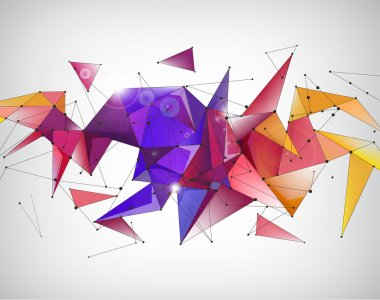 faceted geometric background