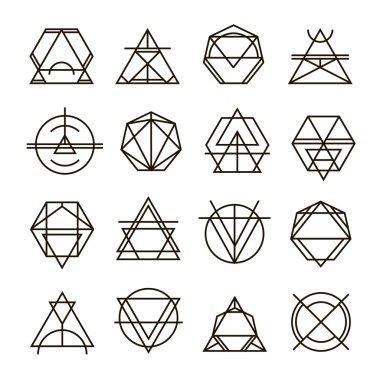 hipster monochrome geometric badge logo