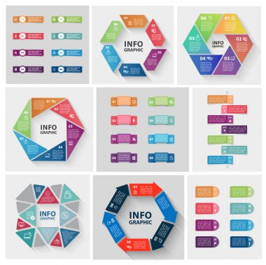 set of abstract infographics