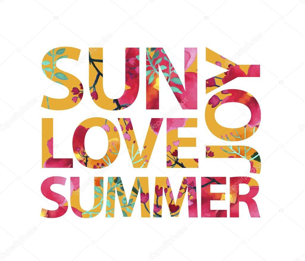sun love summer joy — Stock Vector © Marylia #76902831