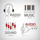 Fényképek zenei logók és ikonok