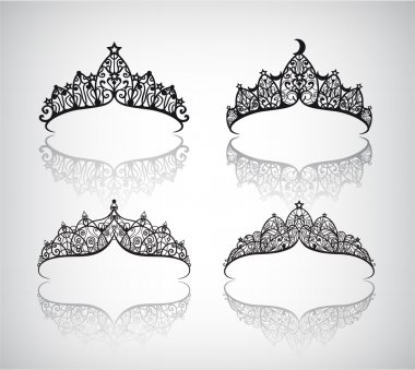 hand drawn lacey crowns