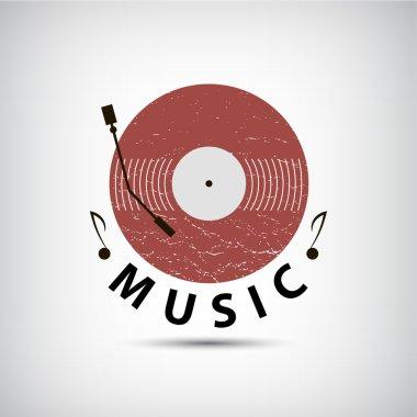 retro vinyl music logo