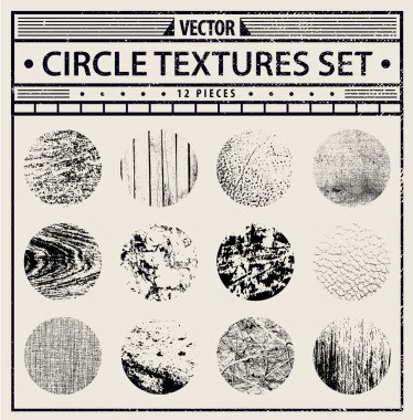 Vector grunge textures set - abstract black and white backgrounds. clip art vector