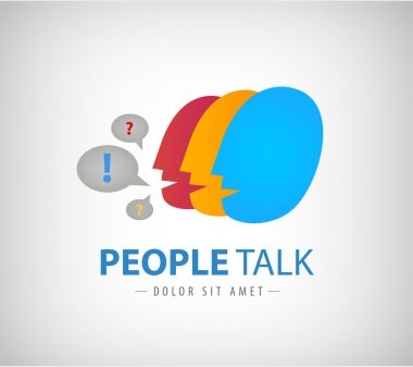 people chat logo, icon