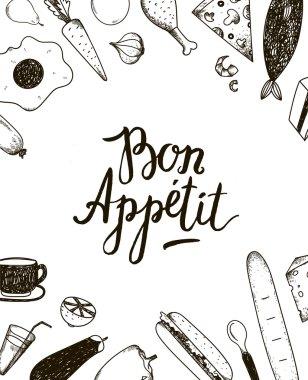 Bon Appetit graphic poster