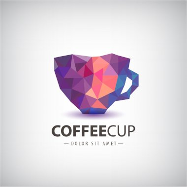 colorful cup, coffee logo