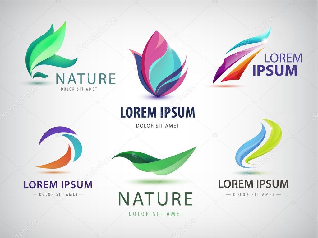 wavy, spa, salon, nature logos