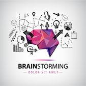 Fotografie Origami brain creating new ideas
