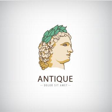 Antique greek head logo