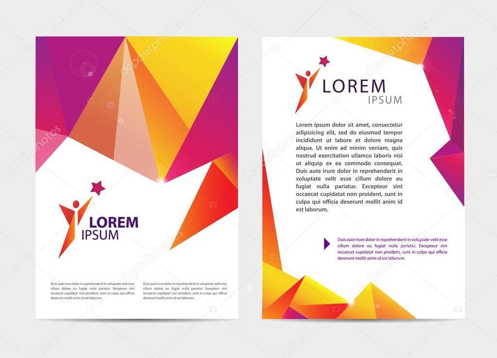 Broschüren und Briefkopf-Vorlagen-design — Stockvektor © Marylia ...