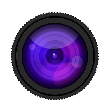 Camera Lense isolate on white background