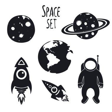 rockets, Earth, Moon and Saturn