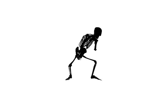 Skeleton Silhouette Hip Hop Funny dance