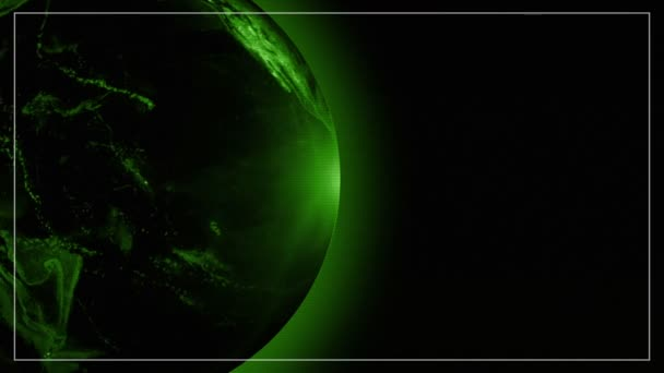 World globe Earth Green Techno electronic vision