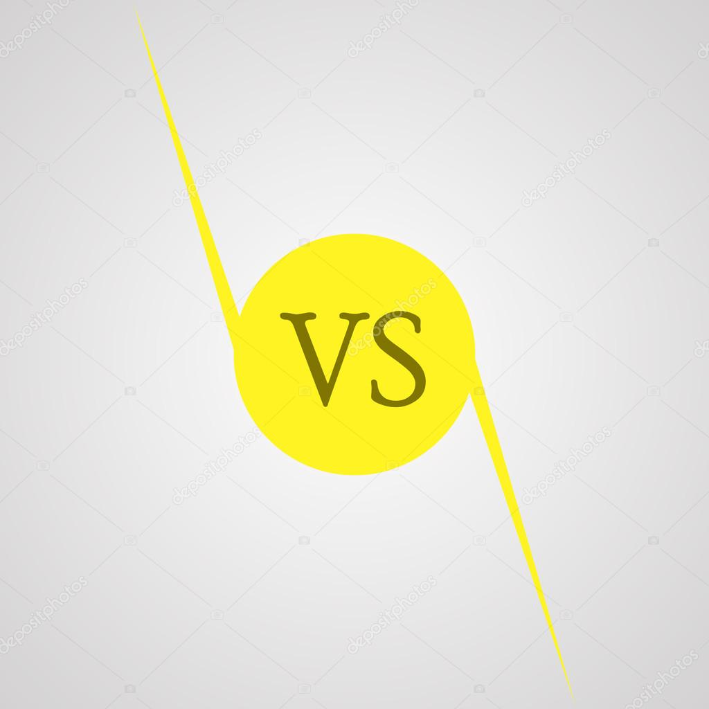 Yellow Outline Versus Sign Like Opposition Concept Of